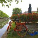 """Außenaufnahme, Gracht in Weesp, Holland, Europa / outdoor photo,  """"Gracht"""" at Weesp, Netherlands, Europe"""