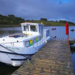 Europa , Irland , Co.Fermanagh , Upper Lough Erne , bei Crom Castle , Hausboot / Europe , Ireland , Co.Fermanagh , Upper Lough Erne , near Crom Castle , Houseboat